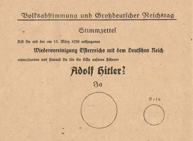 Stimmzettel-Anschluss